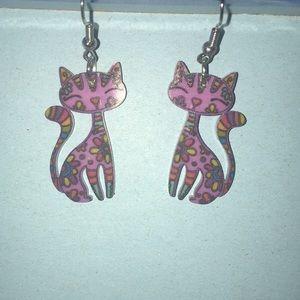 💰4/$20💰 Acrylic Kitty Drop Earrings